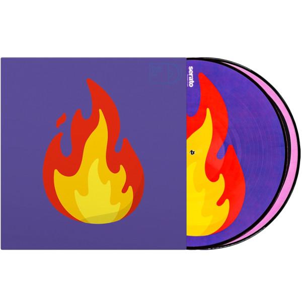 """Serato 2x12"""" Emoji Picture Vinyl Pressung Flame-Record (Paar)"""